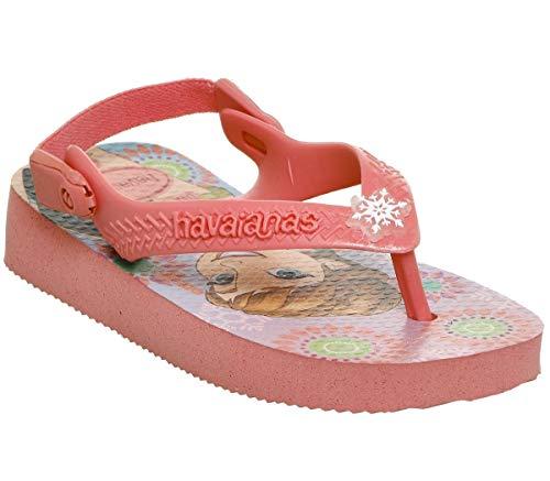 HAVAIANAS - Infradito rosa Frozen in gomma naturale di alta qualità, Bambina, Ragazza-23 (21 BR)