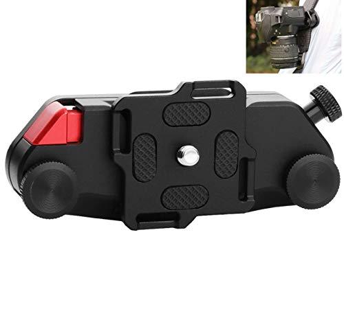 Gürtelclip Kamera Gurt Schnalle Halterung für Canon Nikon Sony DSLR Kameras Action Kamera Metall (Schwarz)