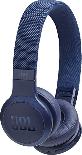 JBL Live 400BT Wireless On-Ear Voice Enabled Headphones with Alexa (Blue)