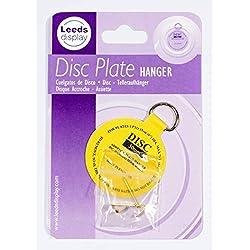 Colgador de disco adhesivo invisible, gancho y colgador (50mm, de 2,5 a 15cm)