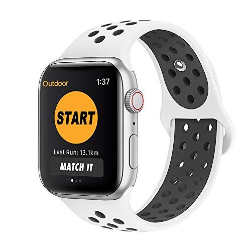 SYOSIN Cinturino per Apple Watch, Morbido Silicone Sport Cinturini di Ricambio per Apple Watch Serie 1, Serie 2, Serie 3 Serie 4, 38MM 42MM ...