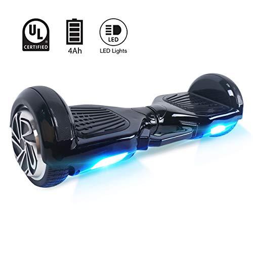 BEBK Hover Board 6.5' Smart Self Balance Scooter Elettrico Autobilanciato con LED, 2 * 250W Motore