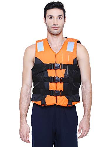 Adult Safety Life Jacket for Swimming Superlite Vest (Orange-Black) Weight Capacity Upto 120 Kg