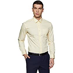 Arrow Men's Solid Regular Fit Formal Shirt (ARES0898_Off White_40)