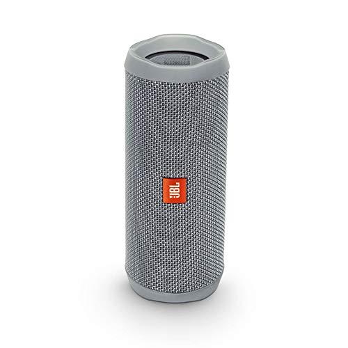 JBL Flip 4 Bluetooth Box in Grau - Wasserdichter, tragbarer Lautsprecher mit Freisprechfunktion & Sprachassistent - Bis zu 12 Stunden Wireless Streaming mit nur einer Akku-Ladung