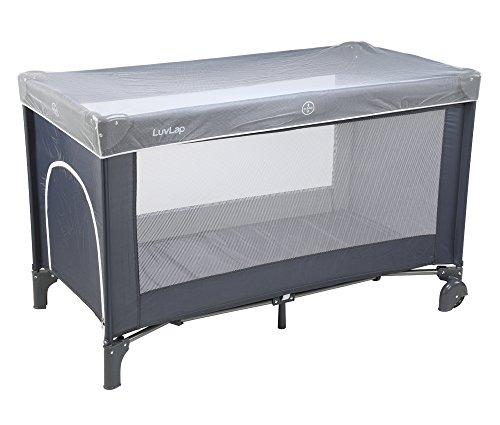 LuvLap Sunshine Baby Playpen Playard/Folding Baby Bed Cum Cot/Convertible Crib - (Grey)