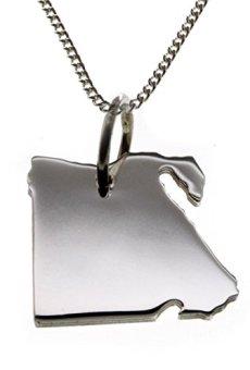 Egipto Colgante{925} con cadena de plata (1,2 mm tanquecito) en 50 cm