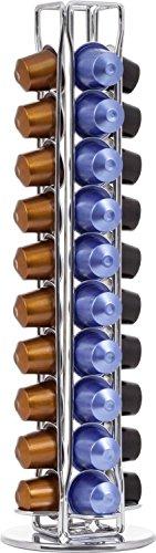 Portacapsule In Metallo Per Nespresso, Distributore Rotante, Capienza: 40 Capsule, 4 Colonne by...