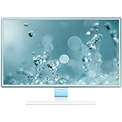 Samsung 27 inch (68.5 cm) LED Backlit Computer Monitor - Full HD, Slim Bezel AH-IPS Panel with VGA, HDMI Ports and Touch of Color Technology - LS27E360HSXL (White)
