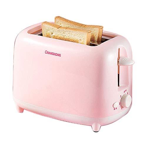 Tostapane Tostapane Completamente Automatico Casa Colazione Tostapane Dimensione 2 Fetta Rosa