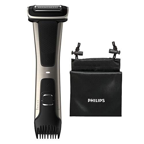 Philips BG7025/15 Bodygroom 7000 Depilatore Corpo da Uomo, Wet&Dry, Pettini Regolabili 3-11 mm, Testina 4D, Autonomia fino a 80 min