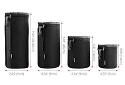 Amzdeal Housse Objectif Lot de 4, Étui objectif de protection en néoprène pour Canon, Nikon, Pentax, Sony, Olympus, Panasonic-S, M, L, XL Acheter en ligne