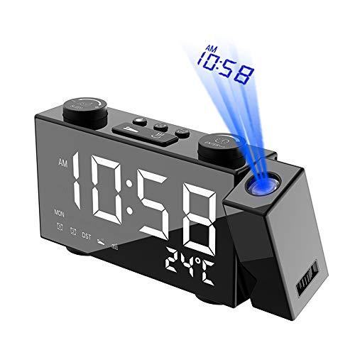 Decdeal Radiosveglia Digitale A 6 Pollici con Proiezione - 4 Regolazione della Luminosità/3...