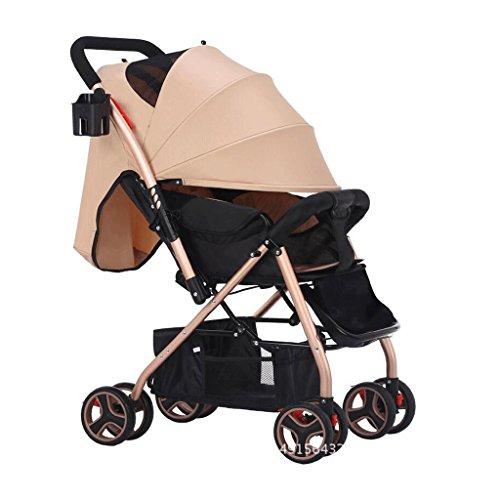 Passeggino possono sedersi sdraiati ultra-leggeri per bambini Ombrello pieghevole invernale GAOLILI...