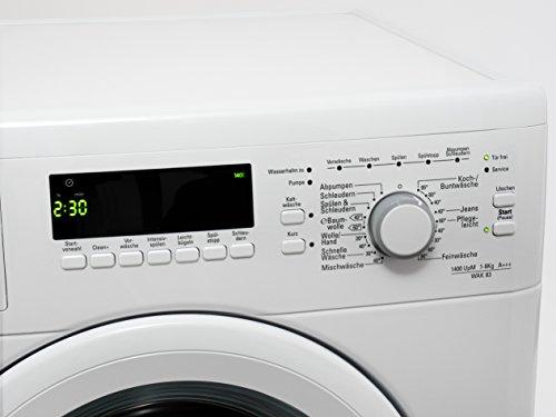 Bauknecht WAK 83 Waschmaschine FL / A+++ / 193 kWh/Jahr / 1400 UpM / 8 kg / 11000 L/Jahr / Mengenautomatik /Unterbaufähig / weiß - 5