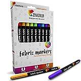 20 Marcadores de tela y textiles Zenacolor - Marcadores de punto finos no tóxicos, indelebles y...