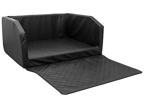 CopcoPet Travel Bed 100x80cm / Hunde-Reisebett aus Kunstleder/Hunde-Autobett/Wasserabweisende Tiermatratze/Hundebett mit Decke als Kratz- und Schmutzschutz
