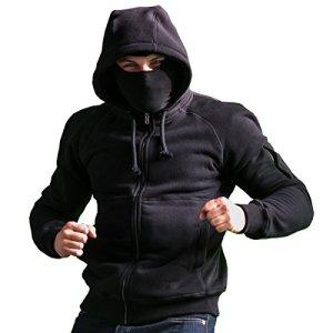 PG-Wear-Ninja-Kapuzenjacke-Smuggler-mit-Sturmhaube-in-schwarz-von-S-XXXL