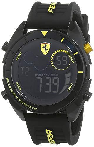Scuderia Ferrari Orologio Analogico-Digitale Uomo con Cinturino in Silicone 830552