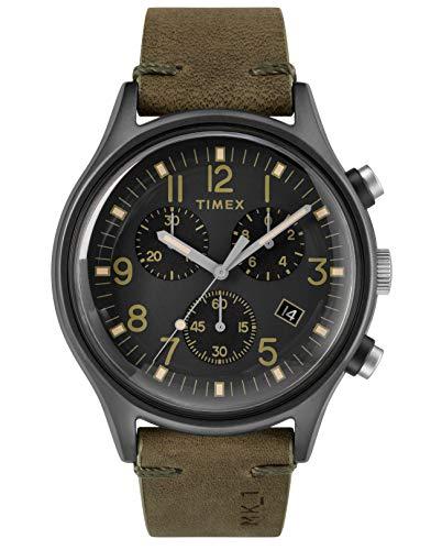 Timex Orologio Cronografo Quarzo Uomo con Cinturino in Pelle TW2R96600