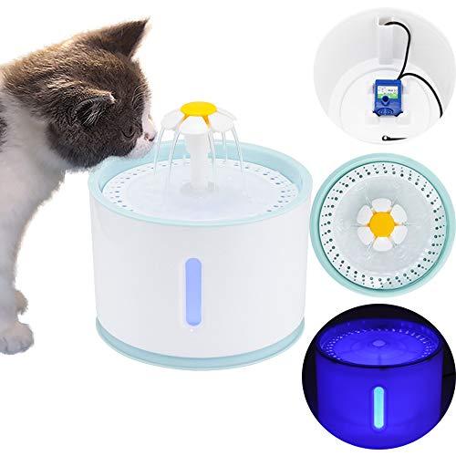 ALLOMN Dispenser per Fontana ad Acqua per Animali Domestici, Supporto Automatico per Erogatore di...