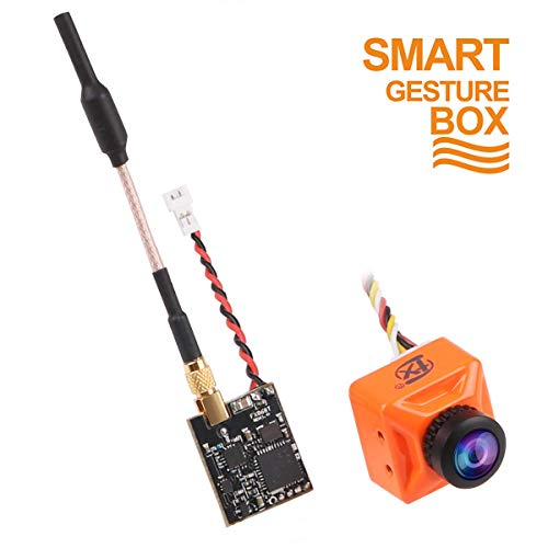 FPV Camera 800TVL Lente da 2,1 mm NTSC / PAL 16: 9/4: 3 Commutabile 160 gradi con trasmettitore FPV...