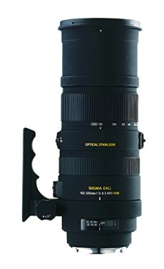 Sigma 150 - 500 / 5,0 - 6,3 DG APO HSM OS - Objetivo para Nikon (distancia focal 150-500mm, apertura f/6.3-22, estabilizador) color negro