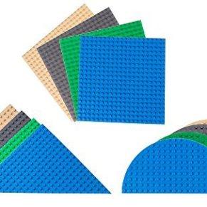 Strictly Briks - Pack de 12 Bases para Construir - Formas Triangulares, semicirculares y cuadradas - Compatibles con…