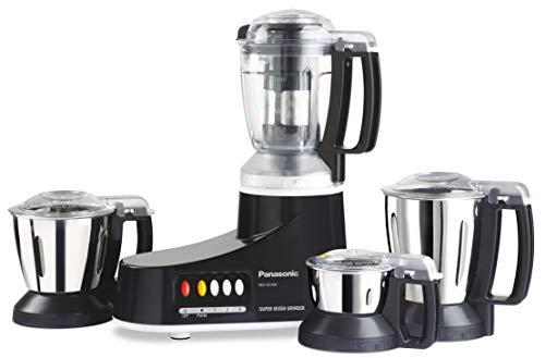Panasonic AC MX-AC400 550-Watt Super Mixer Grinder with 4 Jars (Black)