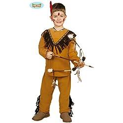Guirca Rudy Traje de Indio Indios, Color Marrón, 10–12años, 82795