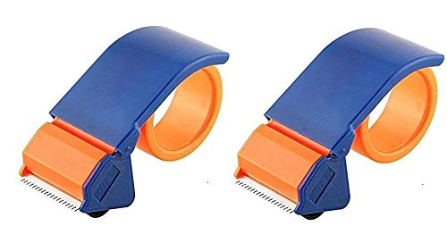 AlexVyan 2 Pcs 2 inch(48MM) Manual Tape Gun Hand Tape Dispenser Packing Packaging Boxes Roll Roller Cutter Parcel