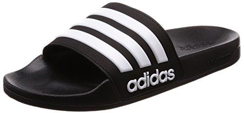 Adidas Adilette Shower, Scarpe da Spiaggia e Piscina Uomo, Nero (Negbas/Ftwbla 000), 42 EU