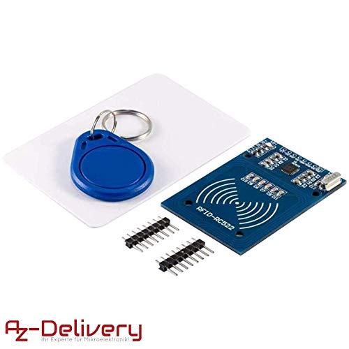 AZDelivery ⭐⭐⭐⭐⭐ Kit RFID RC522 13,56MHz con Reader, Chip e Scheda per Arduino e Raspberry Pi con eBook Gratuito!