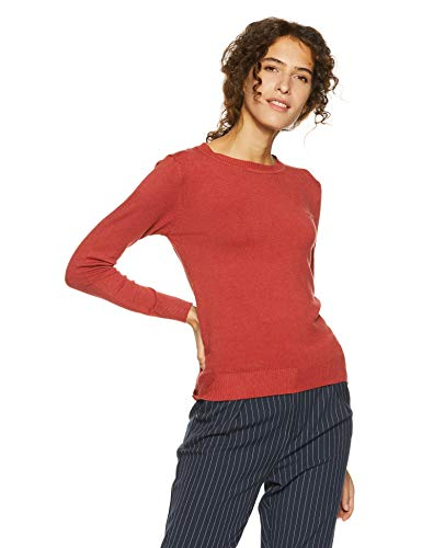 Qube By Fort Collins Women's Sweater (CH101_Rust Red_M)