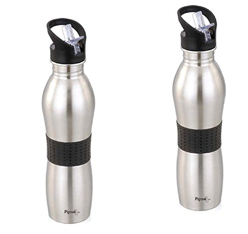 Pigeon Stainless Steel Playboy water bottle 700ml(Set of 2)Silver