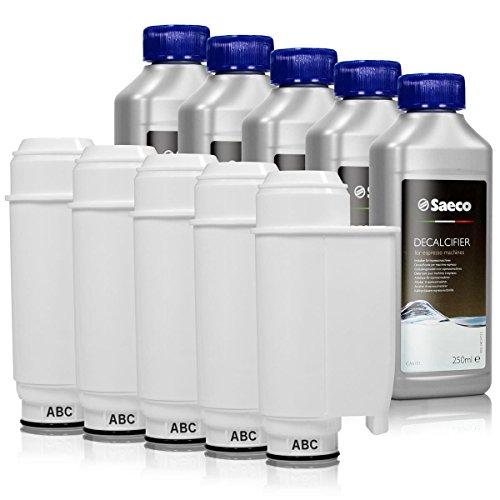 Saeco Brita Intenza+ water filter cartridge bundle (10 months of Saeco Brita Intenza+) (5 cartridges)