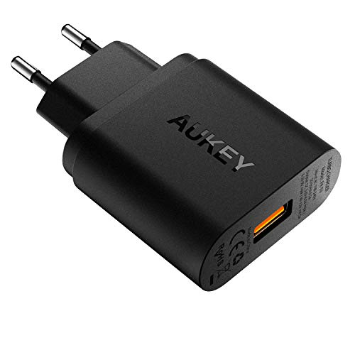 AUKEY Quick Charge 3.0 Caricabatterie USB da Muro 19,5W Caricatore USB per Samsung Galaxy S8 / S8+ / Note 8, LG G5 / G6, Nexus 5X / 6P, HTC 10, iPhone XS / XS Max / XR, iPad Pro/ Air ecc.