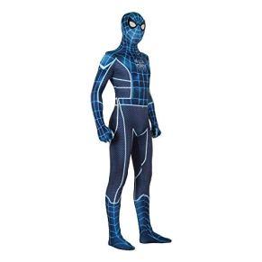 ERTSDFXA Traje De Spiderman Cosplay Adulto Miedo Spiderman Azul Panti Halloween Lycra Spandex Accesorios De Película…
