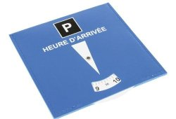 Disque bleu de stationnement obligatoire en zone de parking gratuite bleue Achat