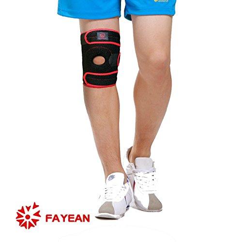 Tutore per ginocchio, allevia LCA, LCL, LCM, menisco strappo, artrite,  dolori tendinite, rotula aperta in neoprene regolabile Veclro, traspirante  e
