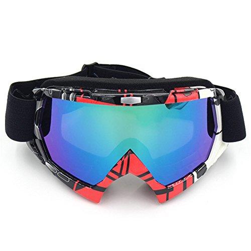 Gafas de protección Spohife, anti rayos ultravioleta, resistentes a los arañazos, al polvo y al viento, diseño unisex, lentes coloridas, ideal para practicar esquí, ciclismo, escalada y muchos más deportes, rojo