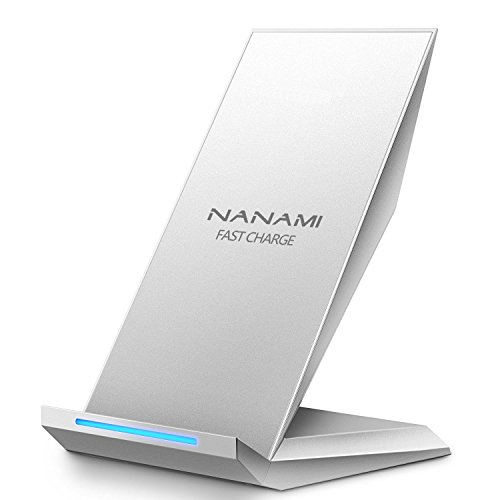 Fast Wireless Charger, NANAMI Qi Ladegerät für iPhone XS/ XS Max/ XR/ X/ 8/ 8 Plus, kabelloses Induktive Ladestation Schnellladestation für Samsung Galaxy S10 S10+ S10e S9+ S8 Plus S7 edge Note 9 usw.