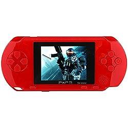 """Spielkonsolen 2.7 """"LCD Handheld Spielkonsole 16 Bit Portable Wiederaufladbare Videospiel mit 150 + Spiele (Rot)"""