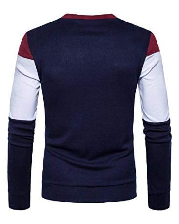 PAUSE Multicolor Solid V Neck Slim Fit Full Sleeve Men's Shrug 5