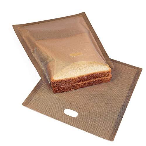 Tostapane Borse da 6,7 'x 7,5' Antiaderenti riutilizzabili resistenti al calore Toastabags Perfetto...