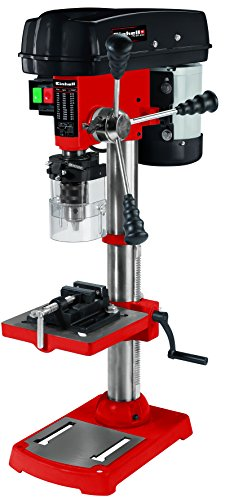 Einhell Säulenbohrmaschine TC-BD 630 (630 W, bis 2.450 min-1, 12 Stufen, max. Bohrtiefe 60 mm, Zahnkranzfutter 1,5-16 mm, einstellbarer Tiefenanschlag, neig-/drehbarer Bohrtisch inkl. Schraubstock)
