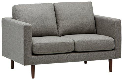 Marchio Amazon -Rivet, divanetto amorino modello Revolve, stile moderno, larghezza 142 cm, tessuto grigio