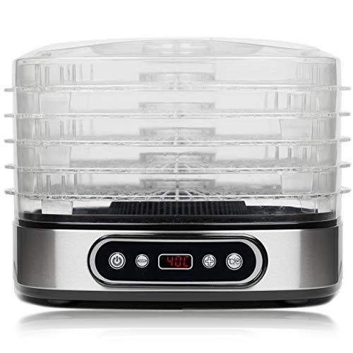 Essiccatore VIVO Dry, 5 Ripiani BPA-Free con Altezza Regolabile, Essiccatore Frutta e Verdura...
