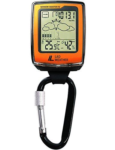 Lad Weather Estación meteorológica móvil Altímetro Barómetro Brújula Higrómetro Termómetro Escalada/Senderismo/al Aire Libre/Deporte (Orange)