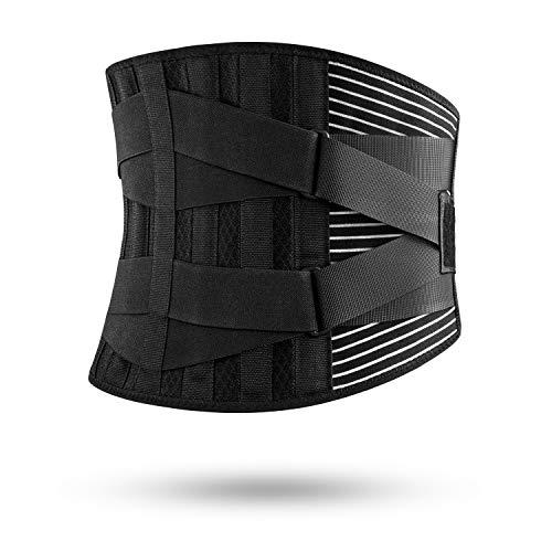 FREETOO Cintura di Pressione Regolabile a Doppio Strato, 6 Bande di Supporto per Protezione al...